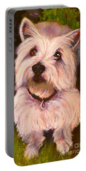 West Highland Terrier Reporting For Duty Portable Battery Charger