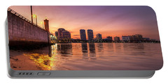 West Palm Beach Skyline At Dusk Portable Battery Charger
