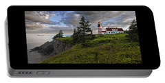 West Quoddy Head Lighthouse Panorama Portable Battery Charger by Marty Saccone