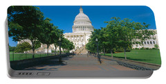 West View Of Us Capitol Building Portable Battery Charger by Panoramic Images