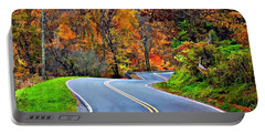 West Virginia Curves 2 Portable Battery Charger by Steve Harrington
