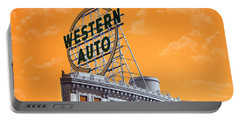 Western Auto Sign Artistic Sky Portable Battery Charger
