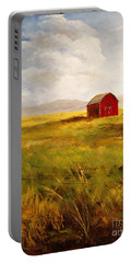 Western Barn Portable Battery Charger by Lee Piper