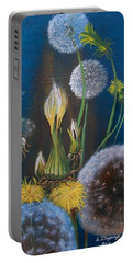 Western Goat's Beard Weed Portable Battery Charger by Sharon Duguay