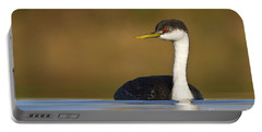 Portable Battery Charger featuring the photograph Western Grebe On The Lake by Bryan Keil