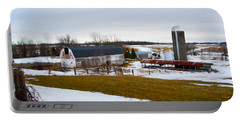 Western New York Farm As An Oil Painting Portable Battery Charger