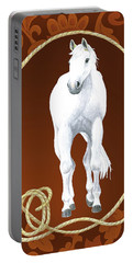 Western Roundup Standing Horse Portable Battery Charger