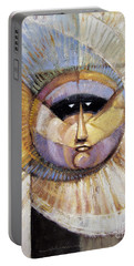 Portable Battery Charger featuring the painting Western Solarmask by Randy Wollenmann