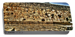 Portable Battery Charger featuring the photograph Western Wall In Israel by Doc Braham