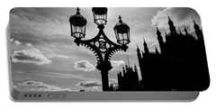 Portable Battery Charger featuring the photograph Westminster Silhouette by Matt Malloy
