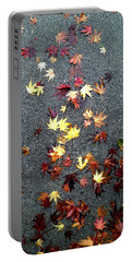 Portable Battery Charger featuring the photograph Wet Autumn by Lora Lee Chapman