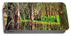 Portable Battery Charger featuring the photograph Wetland Reflections by Wallaroo Images