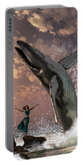 Whale Watcher Portable Battery Charger by Daniel Eskridge