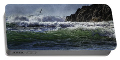 Whales Head Beach Southern Oregon Coast Portable Battery Charger by Diane Schuster