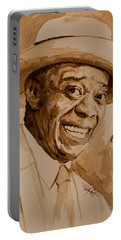 Portable Battery Charger featuring the painting What A Wonderful World by Laur Iduc