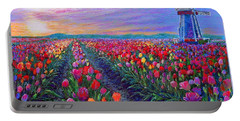 Tulip Fields, What Dreams May Come Portable Battery Charger