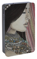 Portable Battery Charger featuring the mixed media What Is Beauty by Malinda  Prudhomme