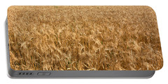 Wheat Crop In A Field, Otter Tail Portable Battery Charger