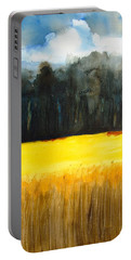 Wheat Field 1 Portable Battery Charger by Carlin Blahnik