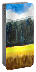 Wheat Field 2 Portable Battery Charger by Carlin Blahnik