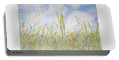 Wheat Field And Wildflowers Portable Battery Charger