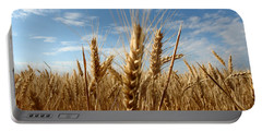 Wheat Field In A Sunny Summer Day Portable Battery Charger