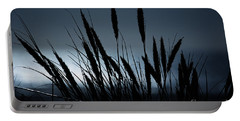 Wheat Stalks On A Dune At Moonlight Portable Battery Charger