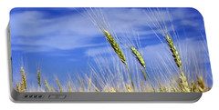 Portable Battery Charger featuring the photograph Wheat Trio by Keith Armstrong