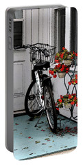 Wheels And Flowers Portable Battery Charger