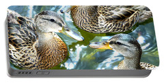 When Duck Bills Meet Portable Battery Charger by Lesa Fine
