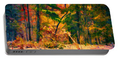 When Fall Becomes Winter Portable Battery Charger