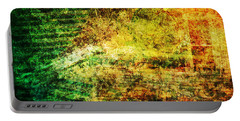Portable Battery Charger featuring the mixed media When Past And Present Intersect #1 by Sandy MacGowan