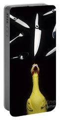 When Rubber Chickens Juggle Portable Battery Charger by Bob Christopher