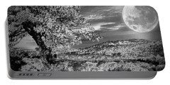 Portable Battery Charger featuring the photograph When The Moon Comes Over Da Mountain by Robert McCubbin