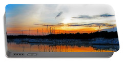 When The Sun Goes Down Portable Battery Charger by Susan  McMenamin
