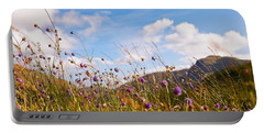 When The Sun Is Shining Everything Around Smiling Towards. Scotland Portable Battery Charger