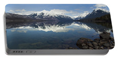 When The Sun Shines On Glacier National Park Portable Battery Charger by Fran Riley