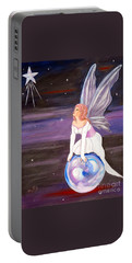 Portable Battery Charger featuring the painting When You Dream by Phyllis Kaltenbach