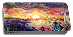 Portable Battery Charger featuring the painting Where The Fairies Play by Shana Rowe Jackson