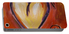 Whimsical  Abstract Art - With All My Heart Portable Battery Charger
