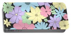 Whimsical Pastel Flowers Portable Battery Charger
