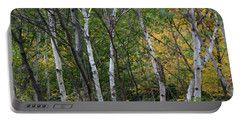 Portable Battery Charger featuring the photograph White Birches In The Woods by Denyse Duhaime