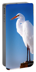 Great White Heron Portable Battery Charger by Vizual Studio