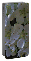 White Blooms Portable Battery Charger