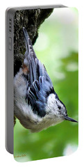 White Breasted Nuthatch Portable Battery Charger by Christina Rollo