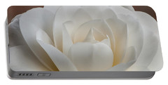 White Camellia Portable Battery Charger