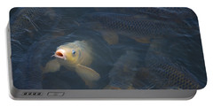 White Carp In The Lake Portable Battery Charger by Chris Flees
