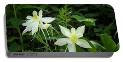 White Columbines Portable Battery Charger