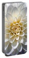 Portable Battery Charger featuring the photograph White Dahlia by Carsten Reisinger