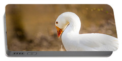 White Duck Portable Battery Charger by Eleanor Abramson